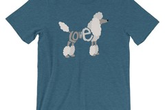 Selling: LoVe Style - POODLE T-Shirt  (White Design)