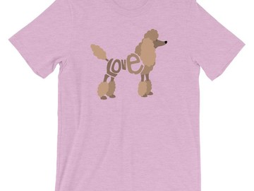 Selling: LoVe T-Shirt - Poodle (Brown Design)