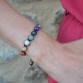 Vente au détail: Bracelet 7 chakras version shamballa