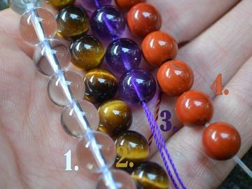 Sale retail: Bracelet élastique en pierres semi-précieuses
