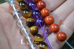 Vente au détail: Bracelet élastique en pierres semi-précieuses