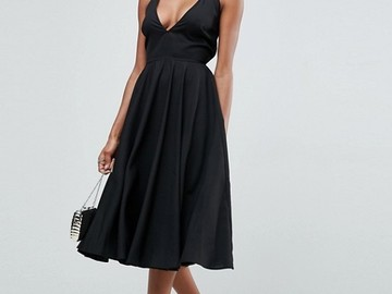 Selling without online payment: ASOS Strappy Back Plunge Midi Dress