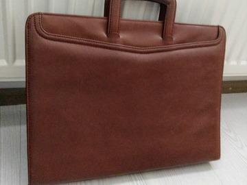 Myydään: Leather briefcase / laptop bag