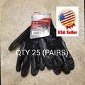 Buy Now: LOT OF 25 DURABLE RUBBER WORKING GLOVES OUTDOOR SIZE L (UNISEX)