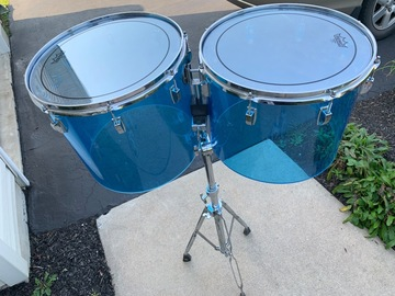 Selling with online payment: Ludwig Blue Vista Lite 15 and 16 Concert toms with stand