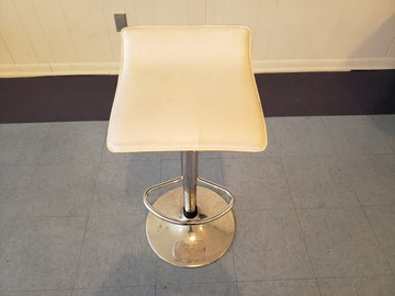 Selling Products: Square Hair Stylists Chair (White)