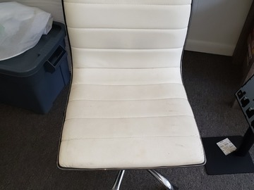 Selling Products:  Square Cushioned Office Chair (White)