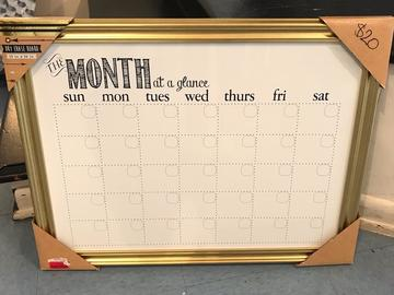 Selling Products: Month Dry Erase Whiteboard