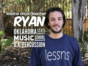 Drum - 60 Minute: Ryan - Drum Teacher - Drumset and Marching Percussion
