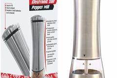 Buy Now: Lortek Stainless Steel Electric Pepper Grinder or Salt Mill