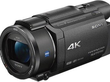 Vermieten: SONY FDR-AX53 4K Handycam + Mik (Reporter-Set)