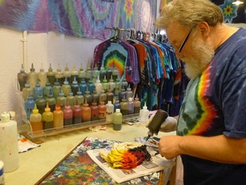per day with calendar availability: Spruce Up Your Company Shirt With Brighter World Tie Dye!