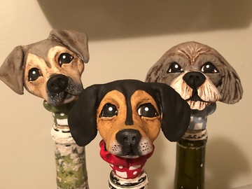 Selling: Custom Dog Wine Stopper