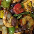 Catering: 1 Tray Spicy Shrimp in Vegetable African Lomein
