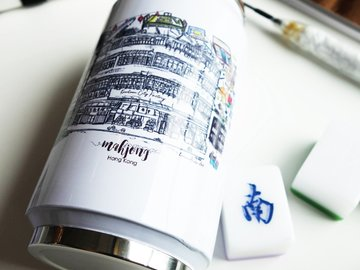 : Kowloon City Mahjong Factory InkSketch Can-shaped Bottle