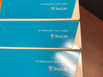 Selling with online payment: New Tearlab osmolarity text packs