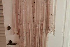 Selling: Pale Pink Sheer Dress w brass buttons