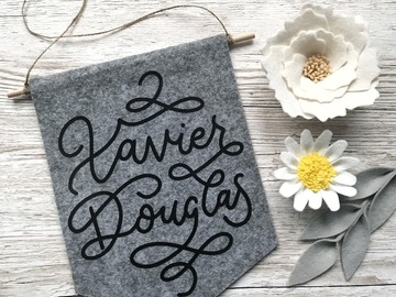 Products: Personalised Name Banner, Wall Hanging, Homeware Gift