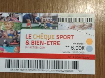 """Vente: Chèques cadeaux """"Sport & bien-être"""" (198€)"""