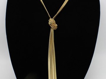 Buy Now: 100 New Gold Knotted Snake Chain Necklace by I-N-C. $3950 Retail
