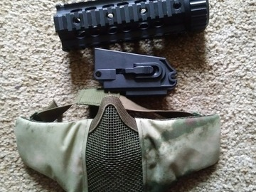 Selling: Quad rail, g36 conversion magwell, face mesh