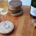 : Coasters [made from engineered flooring samples]