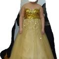 Ilmoitus: Shampanjan värinen bling bling mekko n.XL