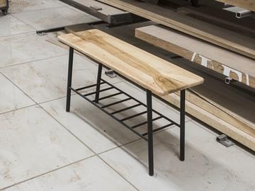 : Nordic Style Hardwood Bench