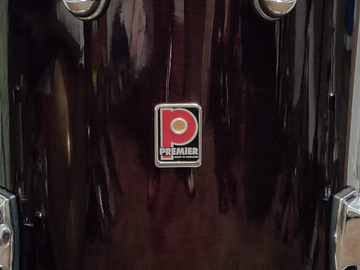 """Selling with online payment: 90's Premier Genista Birch """"Damask Red"""" 16x16 Floor Tom In Good C"""