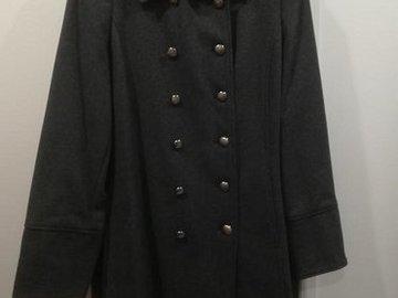 Myydään: Harmaa villakangastakki / Gray woolen jacket