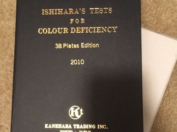 Selling with online payment: Ishihara 38 Plate brand new