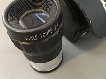 Selling with online payment: 7X Scale Loupe with Case