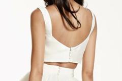Ilmoitus: Myydään yhdessä tai erikseen hääpuvun hame, yläosa ja alushame.