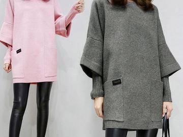 Vente avec paiement en ligne: Femmes faux deux pièces Sweatershirt hiver automne hauts épais