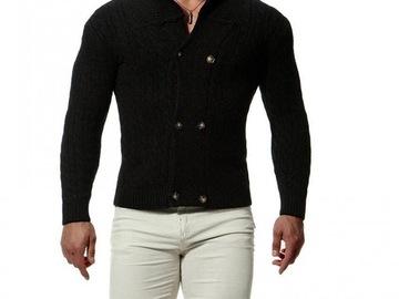 Vente avec paiement en ligne: nouvelle tendance automne et hiver hommes col châle cardigan chan