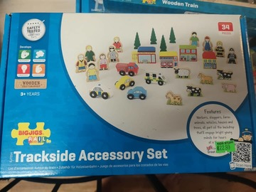 Selling with online payment: Wooden train set + accessories