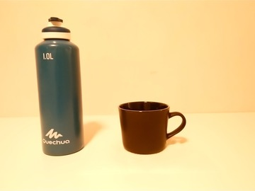 Selling: Classy black coffee mug(large), Medium sized pan