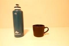 Myydään: Classy black coffee mug(large), Medium sized pan