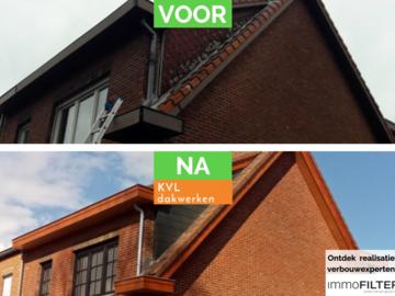 Click voor info: [REALISATIE] KVL-DAKWERKEN | Pottelberf 44 stormpan | Eternit ...