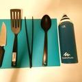 Myydään: Knife, Spatulas, flexible cutting board
