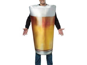 Selling: A beer pint costume