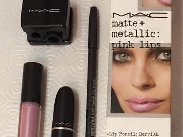 Venta: Lip Kit MAC Matte & Metallic Pink Lips - Certificado Incluido