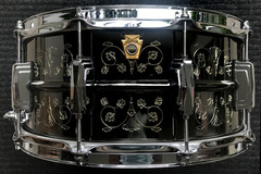 Selling with online payment: Ludwig Hand Engraved Black Beauty LB417 6.5x14""