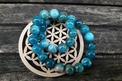 Vente au détail: Bracelet Apatite 6 mm et argent 925