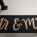 Ilmoitus: Puinen Mr & Mrs koriste