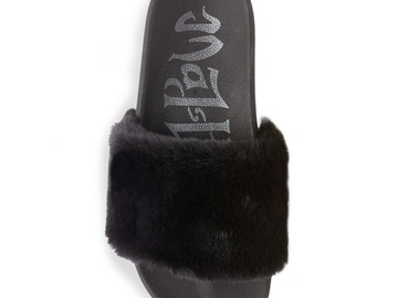 Buy Now: Women's Phoebe Faux Fur Slide Sandals $942 Retail Value
