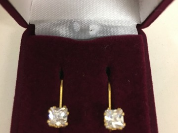 Buy Now: 48 prs--CZ Eurowire Earrings in gift box-- 5 styles-- $1.99 pr