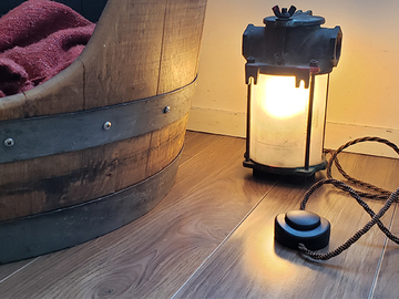 : Lamp [made from a marine diesel engine filter]