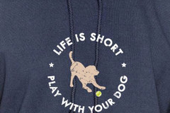 Selling: Life Is Short Play With Your Dog - Hoodie