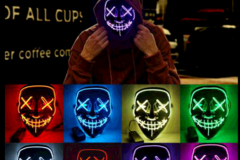 Buy Now: 100 X Halloween LED Glow Mask 3 Modes EL Wire